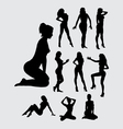 Sexy girl silhouettes vector image vector image
