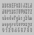 Shadow Font Design Alphabet and Number vector image vector image