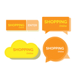 Shopping online word banners vector image vector image