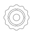single gear icon vector image vector image