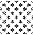 Snowflake pattern seamless vector image vector image