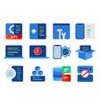 software development modern api application vector image vector image