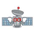 super hero satelite character cartoon style vector image vector image