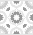 tile grey and white decorative floor tiles pattern vector image vector image