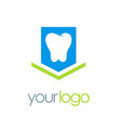 tooth dentist logo vector image