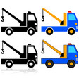 tow truck icon set vector image