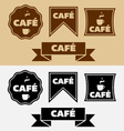 Vintage Cafe Badges and Banners vector image vector image