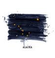 watercolor painting flag alaska vector image vector image
