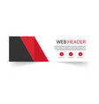 web header modern red black background imag vector image