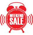 Weekend sale red alarm clock vector image vector image