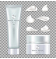 white pearl day cream for skin in tube and box vector image