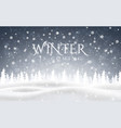 winter is coming christmas snowy night woodland vector image