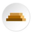 wooden boards icon circle vector image vector image