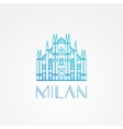 World famous Milan Cathedral Greatest Landmarks vector image
