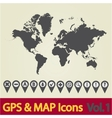 World map GPS vector image vector image