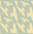 seamless pattern white birds in a blue sky retro vector image