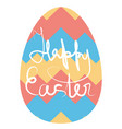 abstract ornament on easter egg symbol of spring vector image vector image