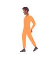 african american handcuffed prisoner man criminal vector image