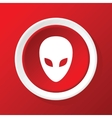 Alien icon on red vector image vector image