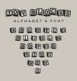 alphabet blocks bablocks font vector image