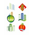 Architectural Building logo set vector image vector image