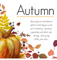 autumn floral watercolor greeting card design vector image vector image