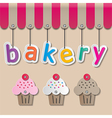 bakery shopfront sign vector image vector image