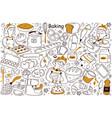 baking doodle set vector image