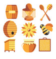 beekeeping farm beekeeper and apiary apiculture vector image