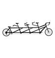 bicycle symbol vector image vector image