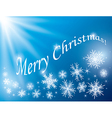 blue background - merry christmas card vector image