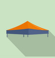 blue orange big tent icon flat style vector image