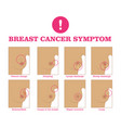 breast cancer symptom vector image vector image