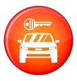 Car and key icon flat style vector image vector image