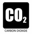carbon dioxide symbol vector image vector image