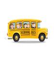 cartoon school bus with children vector image vector image
