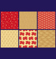 chinese japanese seamless patterns set vector image