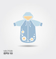 clothes for a newborn vector image