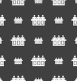 Conference icon sign Seamless pattern on a gray vector image vector image