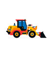 construction machinery front-end loader tractor vector image vector image