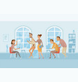 coworking center business people working and vector image