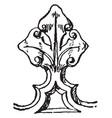 cresting arundel church vintage engraving vector image vector image