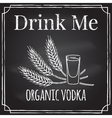 Drink me Elements on the theme of the restaurant b vector image vector image