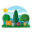 ecological lifestyle concept vector image
