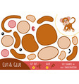 Education paper game for children monkey