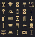 electrical energy icons set simple style vector image vector image