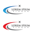 Faster Logo Template vector image vector image