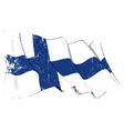 Finland Flag Grunge vector image vector image