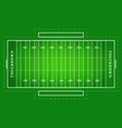 flat green american football field top view vector image
