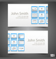 flat windows frame calling card vector image vector image